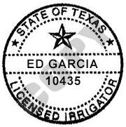 State of Te3xas Licensed Irrigator